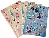 Disney Frozen (Eiskönigin) Großes Stickerset mit 166 Stickern auf 5 Bogen (1 Bogen Pop up Sticker)