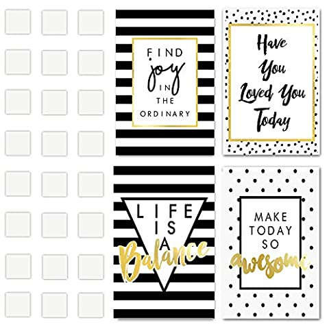 Set Of 4 Inspirational & Motivational Positive Quotes Art Prints, Each Poster Print Measures 43X28 CM Printed on Thick Cardboard and Include Adhesives! These Life Quote Signs are Great Home