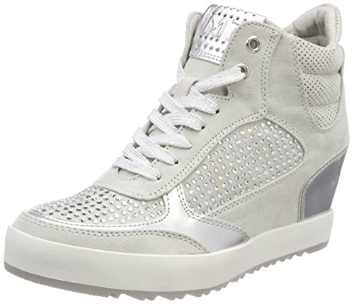 MARCO TOZZI Damen 25210 Hohe Sneaker Grau (Lt.Grey Comb) 38 EU