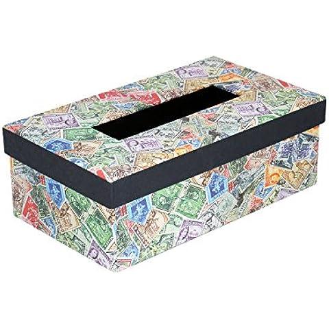Elegante tessuto a mano scatola di carta di carta cartone francobollo stampato - Scatola Di Cartone Crafts