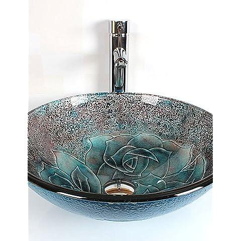 Luxury Classic Round Bagno moderno in vetro temperato insieme dissipatore CSÁSZÁR