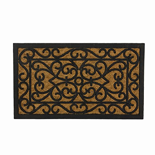 SWHF Coir and Rubber Door Mat: Virgin Rubber and Extremely Durable (Rectangle)