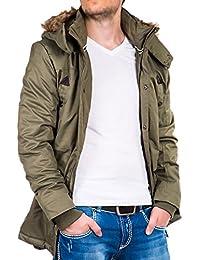 Parka Jacke Herren Mantel Winterjacke Winter Kapuze Fell Clubwear Vintage