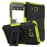 Für Samsung Galaxy Tab A 7.02016T280T285Robuste Schutzhülle/Impact Armor Hybrid klopffestigkeit Silikon Harte Rückseite Cover grün grün