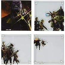 Vandor Marvel Avengers: Infinity War Stacking Glass Untersetzer 4-Piece Set