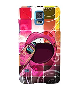 Wow What A Lips Lipstick 3D Hard Polycarbonate Designer Back Case Cover for Samsung Galaxy S5 G900i :: Samsung Galaxy S5 i9600 :: Samsung Galaxy S5 G900F