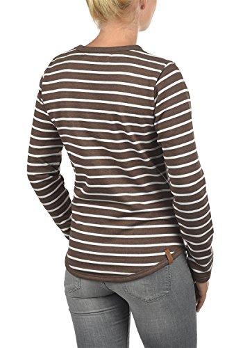 Blend She Christin Damen Sweatshirt Pullover Sweater Mit Rundhalsausschnitt Und Fleece-Innenseite, Größe:XS, Farbe:Mocca Mix (70816) - 3