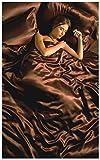 Gorgeous 6Seide Satin Bettwäsche-Set mit Spannbetttuch, Bettbezug & 4x Kissen von Lizzy®, braun, Doppelbett