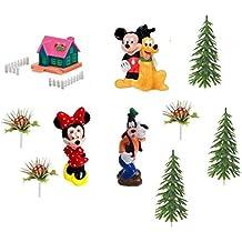 Kit TOPPER decorazione per TORTE e DOLCI walt Disney TOPOLINO & CO - con Mickey Mouse, Minnie, Pippo e Pluto