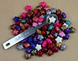 #9: WellieSTR Set 100pcs Colorful lucky star Shape Seal Sealing Wax Beads With 1 Mini Melting Spoon