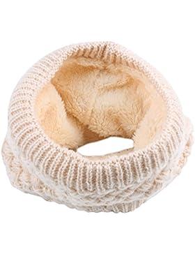 Bufanda de punto unisex, ANGTUO Bufanda de abrigo de invierno con cuello grueso y bufanda para mujer y hombre...
