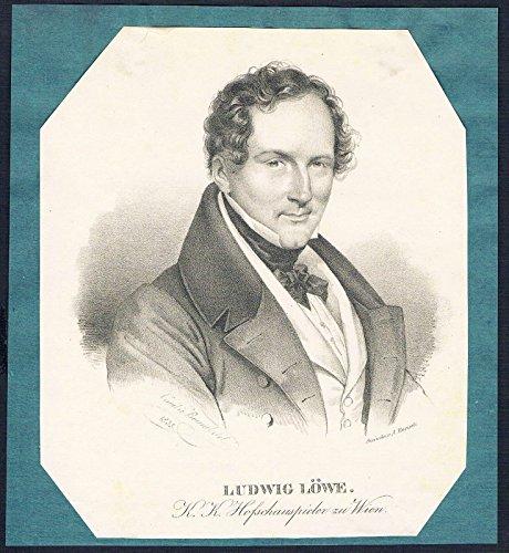 Ludwig Löwe Schauspieler Wien Lithographie Portrait Litho