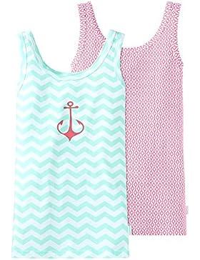 Schiesser Mädchen Unterhemd Multipack 2pack Tops, 2er Pack