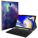 Fintie Tastatur Hülle für Samsung Galaxy Tab S4 T830 / T835 (10.5 Zoll) 2018 Tablet-PC - Ultradünn Schutzhülle mit magnetisch Abnehmbarer drahtloser Deutscher Bluetooth Tastatur, Die Galaxie