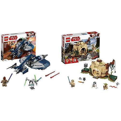 LEGO Star Wars 75199 - General Grievous Combat Speeder, Spielzeug Gleiter &  Star Wars Yodas Hütte 75208 Star Wars Spielzeug
