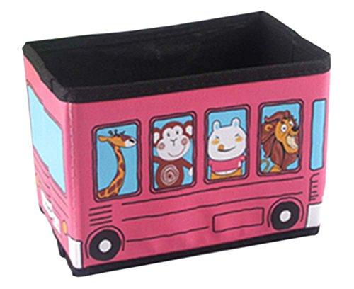 Cartoon rosa Zoo Autos Mini-Desktop-Aufbewahrungsbox gefaltet
