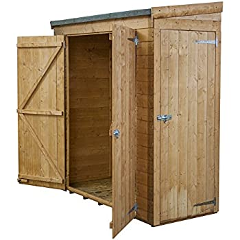 6x2 shiplap wooden garden pent shed double single door access felt included by waltons - Garden Sheds 6 X 2