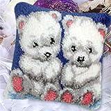 12 Modell Latch Hook Kit Bear Cushion Cover DIY Craft Needlework Crocheting...