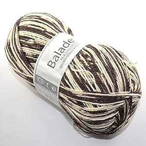 Cheval blanc balade color pelote de laine 4 prises - 0414
