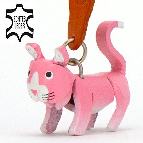 Européenne de cheveux courte de chat Felix–Chatons de clé Pendentif en cuir, une parfaite idée de cadeau pour les hommes et les femmes dans le collier-Accessoires sous chat