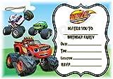 BLAZE e il mostro macchine inviti festa di compleanno–Landscape design–Decorazione per feste/accessori (confezione da 12inviti A5) WITH Envelopes