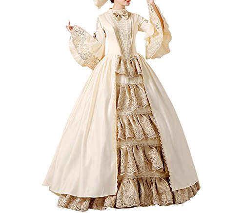 thic Viktorianisches Kleid Renaissance Maxi Kostüm (Gotische Viktorianische Kostüme)