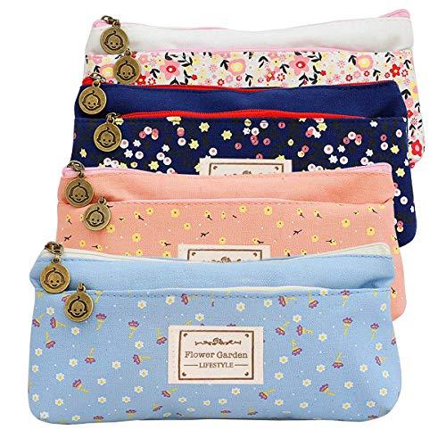 Elisel Fashion Süßes Süßes Nektar Multifunktionale Stifttasche mit Doppelreißverschluss, Leinen, Stifttasche, Kosmetiktasche, Handytasche und Münztasche