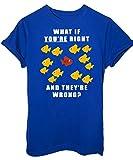 T-Shirt Fargo Manifesto Pesci 2 - Serie Tv - iMage - Donna-M-Blu Royal