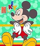 Disney Micky Maus Fleecedecke 120 x 140 cm Waschmaschinenfest Fleecdecke Mickey Mouse