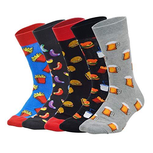 Sporzin Calcetines Hombres Señoras Multicolor Calcetines
