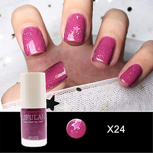 Vernis à Ongles Transparent Brillant Mat Vernis à Ongles Gel Nail Art à Base D'eau UV Semi Permanent Séchage Rapide (D)