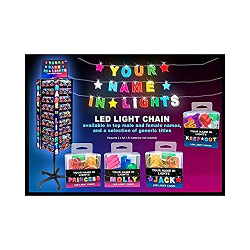 51QlbRLEa4L BEST BUY #1Royal County Products Your Name in Lights HANNAH LED Chain Lights NIL067 price Reviews