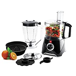 Cello Kitchen Chef KC-FP-200 500-Watt Food Processor (Black and white)