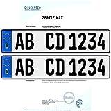2 x EU KFZ Nummernschilder Autoschilder Kennzeichen ALLE AUTOMARKEN mit individueller Prägung nach Ihren Vorgaben. BEST