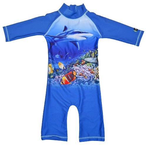 Swimpy Jungen UV Strand und Schwimmanzug, Fisch Blau, 0.5-1 Jahr, 34-FI6000B/15-2YRS