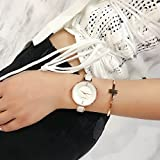 MAMONA Reloj de Mujer y Juego de Regalo de Brazalete de Acero Inoxidable para Damas/Reloj de Cerámica L3887RGGT Rosa Dorado
