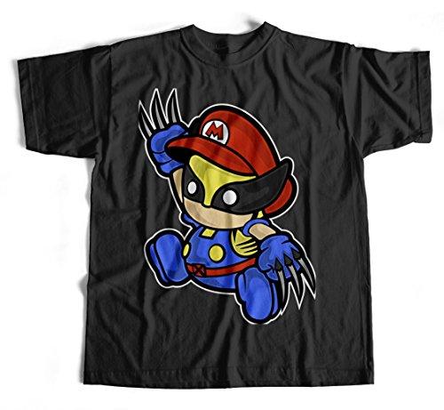 T-Shirt Mario Wolvarine Black Brothers Super X-Men Avangers Kult Xavier Fun