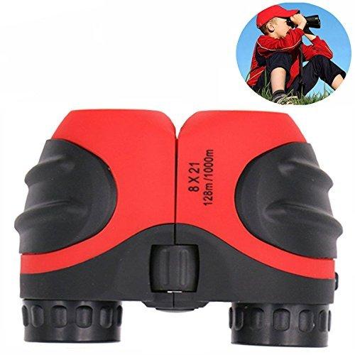 (Spielzeug für 3-12 Jahre alte Jungen Mädchen, Geburtstagsgeschenke für Mädchen Jungen, Tog Geschenk 8x21 Kompaktes nebelfest HD Fernglas für Wandern Jagd Rot TG04)