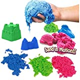 SKYFUN (LABEL) Magic Kinetic Active Funny Squeeze Sand Clay with Molded Toys