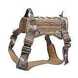 Taktische Hundeweste, militärisches, wasserabweisendes Hundegeschirr, mit abnehmbaren Molle-Taschen/Patches für das Training im Freien.
