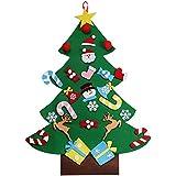 AerWo 3ft Bricolaje árbol de Navidad de Fieltro Con 26 Adornos Desmontables Regalos de Navidad de año Nuevo Para los niños de Pared de Puerta Decoración Colgante