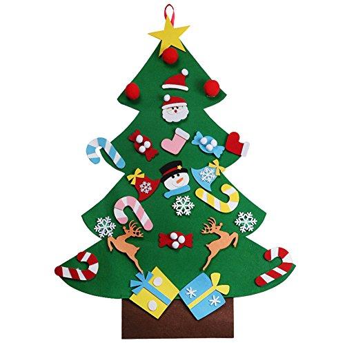 Bricolaje árbol de Navidad de Fieltro Con 26 Adornos Desmontables