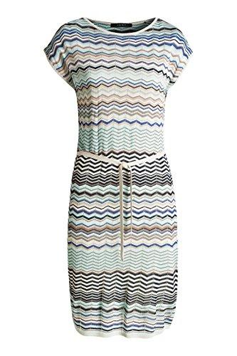 Esprit 056eo1e001 - Floated Weiche Quality - Robe - Femme Mehrfarbig (BRIGHT BLUE 410)