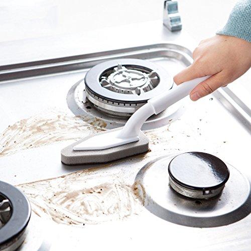 YHLVE 1 cepillo de esponja para cocina, con goma de borrar mágica de esponja y carburo de silicio, herramienta de limpieza para el hogar y la cocina