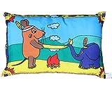 Kinder Kissen Maus Indianer Fan Deko Artikel beide Seiten bedruckt ca. 28 x 40 cm.