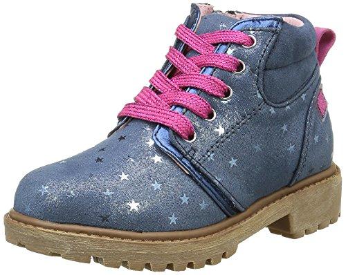 agatha-ruiz-de-la-prada-161946-bottes-courtes-avec-doublure-chaude-fille-bleu-blau-navy-y-estampado-
