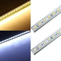 Bluelover 50CM 36 LED 5050 SMD striscia dura luce Shell fine lampada 12Vbianco caldo