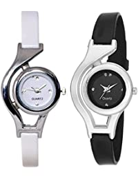 Indium New Black And White Girl And Women Wrist Watch For Girl Combo