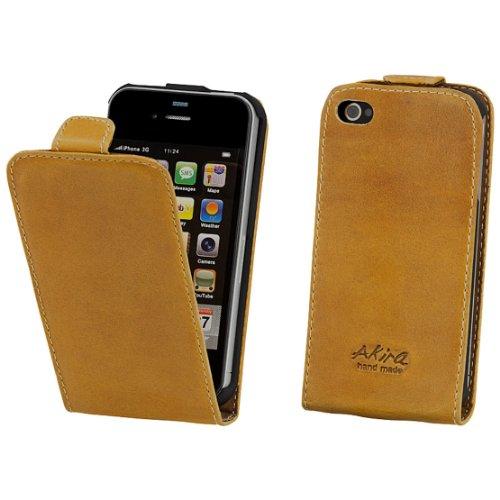 Akira Handmade Original Premium Echtleder Flip Case für Apple iPhone 5c Braun Iphone 3g Leder-etui