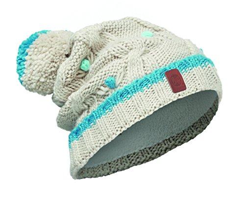 Buff Kinder JUNIOR KNITTED und POLAR HAT BUFF Mütze, Weiß (Dysha Mineral), One size (Polar-fleece-mütze Kinder)